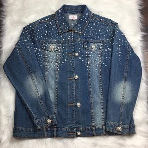 Vintage | Rare Pearl Denim Jacket